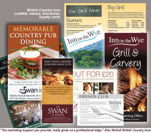 Brochures & Leaflets for restaurants