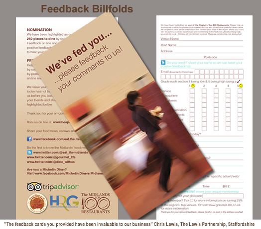 Customer Feedback Cards