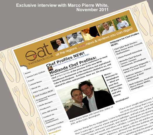 Marco Pierre White interview for eat-the-midlands.co.uk