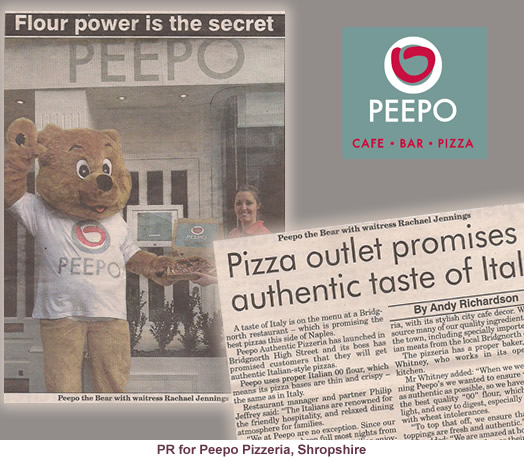 PR for Peepo Pizzeria and local producers