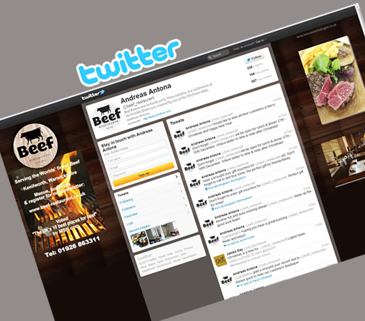 Beef Twitter Social Media by Leisure Marketing Midlands LTD