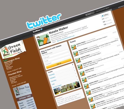 Greenfields Farm Shop Twitter by Leisure Marketing Midlands LTD