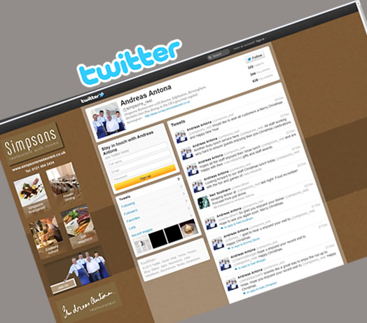Simpsons Michelin Restaurant Twitter by Leisure Marketing Midlands LTD
